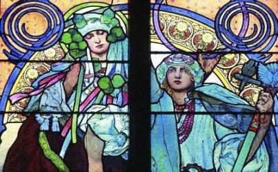 St Vitus Art-Nouveau Window